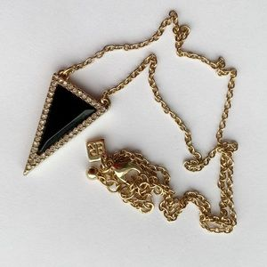 Banana Republic Black Triangle Geometric Necklace